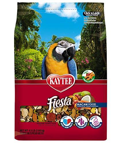 Kaytee Fiesta Max Bird Food for Macaws, 4-1/2-Pound Bag (Macaw Diet)