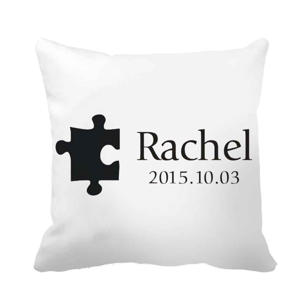 "CiCiDi Custom Name Puzzle Piece Decorative Canvas Cotton Square Pillow Covers 16""x 16"""
