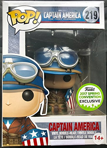 Funko Pop! Marvel #219 Captain America: The First Avenger Captain America (2017 Spring Convention Exclusive)