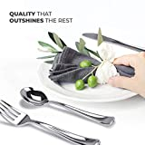 160 Pack Silver Plastic Cutlery Disposable