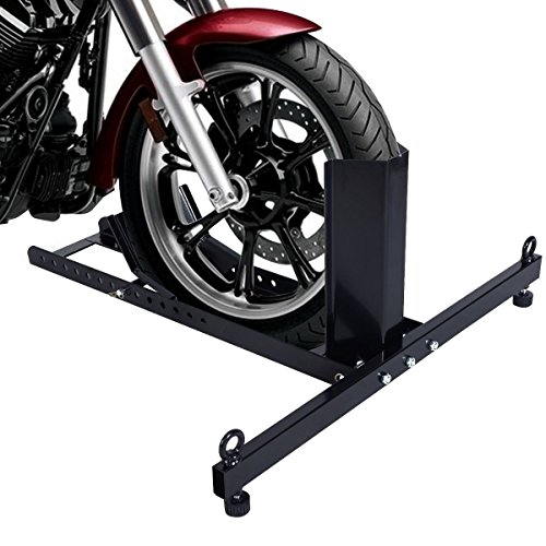 Goplus Adjustable Motorcycle Wheel Chock Stand Heavy Duty 1800lb Weight Capacity