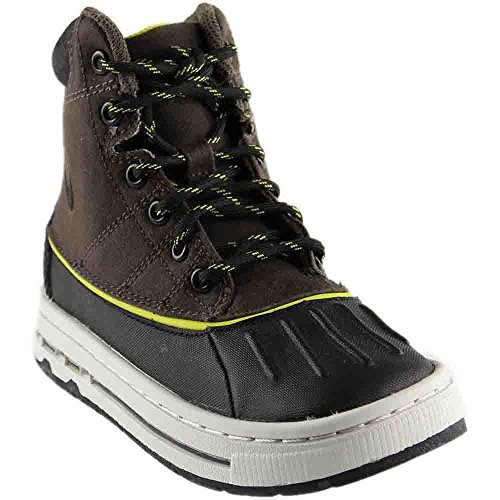 Nike Woodside (PS) Little Kids Boots 415079-003 Ironstone Black-Light Bone-High Voltage 11 M US -