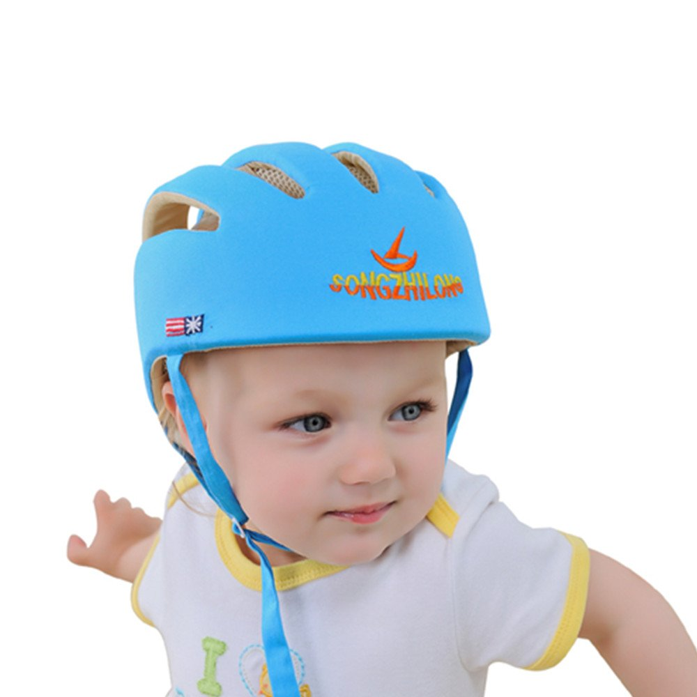 Huifen Baby Children Infant Toddler Adjustable Safety Helmet Headguard Protective Harnesses Cap Blue, Providing Safer Environment When Learning to Crawl Walk Playing Baby Infant Blue Hat (Blue) by Huifen (Image #9)