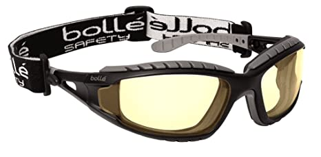 f70eba9d4c02 Bolle Safety 253-TR-40087 Tracker Safety Eyewear with Black Gray ...