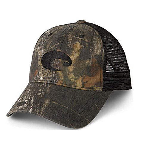 Camo Trucker Hat - Costa Del Mar Mesh Hat, Mossy Oak New Breakup Camo/Black