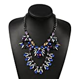 Holylove Maxi Blue Glass Unique Instagram Collar Choker Necklace-HLN52 Blue