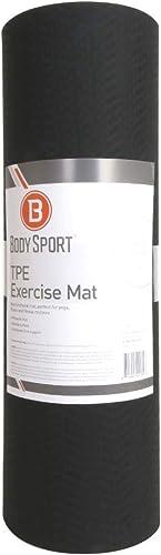 Body Sport TPE Exercise Mat 72 in. Black Neoprene Mat Non-Slip Yoga Mat Sport Mat Impact Mat Exercising Mat
