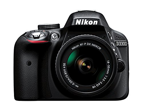 Nikon D3300 w/ AF-P DX 18-55mm VR Digital SLR – Black by Nikon