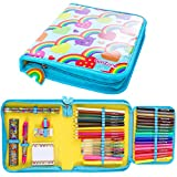 Arts and Crafts Gifts for Girls - Fun Filled Cute Stationery Pencil Case - Great Birthday Gift Present Idea for Girls of All Ages.
