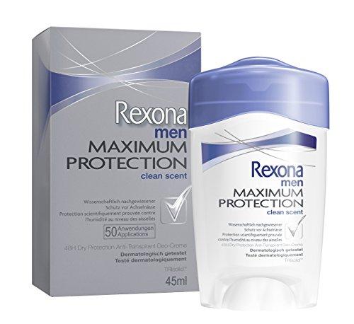 Rexona Men Maximum Protection Clean Scent Anti-Transpirant Deo Cremestick, 1er Pack (1 x 45 ml)
