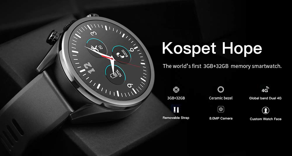 Festnight kospet Hope Smartwatch Android7.1.1 3GB + 32GB ...