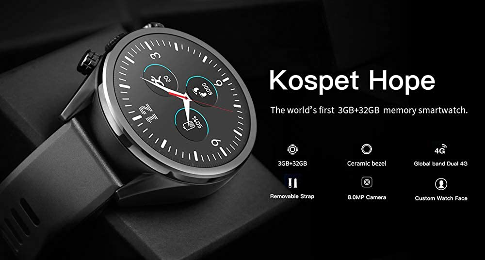 Amazon.com: Zwbfu kospet Hope Smartwatch Android7.1.1 3GB+ ...