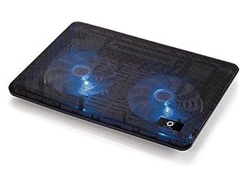 Conceptronic CNBCOOLPAD2F - Base de refrigeración para portátil (USB, Negro, 340 x 250 x 24 mm, Aluminio): Amazon.es: Informática