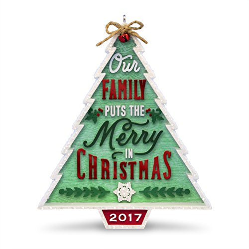Hallmark Keepsake 2017 Our Family...Our Christmas Tree Dated Christmas Ornament