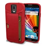 Silk Galaxy S4 Wallet Case - Q Card Case for Samsung Galaxy S4 - Ultra Slim CM4 Protective Credit Card Carrying Case (Red Rouge)