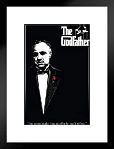 Pyramid America The Godfather Red Rose Movie Matted Framed Poster 20x26 inch