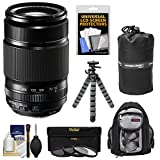 Fujifilm 55-200mm f/3.5-4.8 XF R LM OIS Zoom Lens with 3 Filters + Backpack + Tripod Kit for X-A2, X-E2, X-E2s, X-M1, X-T1, X-T10, X-Pro2 Camera