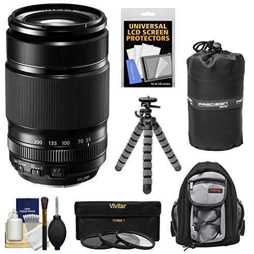 Fujifilm 55-200mm f/3.5-4.8 XF R LM OIS Zoom Lens with 3 Fil