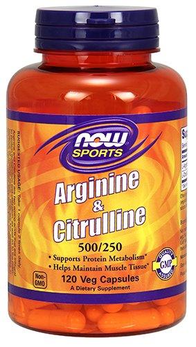 L-arginine L-citrulline Complex - Now Foods Arginine & Citrulline Veg Capsules
