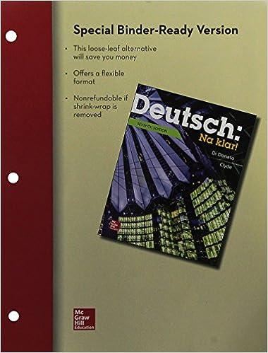 : Loose Leaf Deutsch: Na Klar! An Introductory