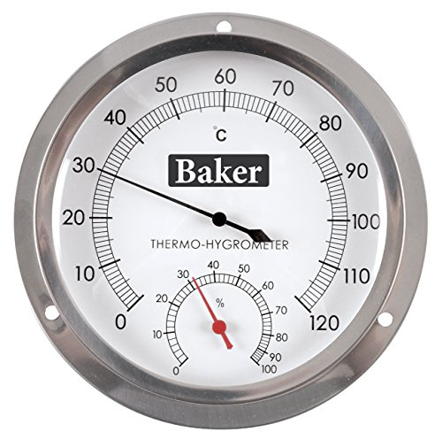 Baker Instruments B6020 Dial Thermo-Hygrometer, 0 to 120°C / 0-100% RH