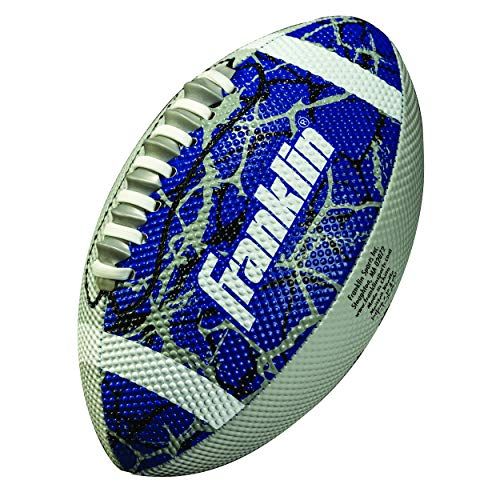 Franklin Sports Mini Football - Tacky Grip Cover - Easy Throw Spiral Lace System - Little Kids Indoor/Outdoor Football - Navy/Silver
