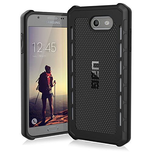 URBAN ARMOR GEAR [UAG Samsung Galaxy J7 (2017) Outback Feather-Light Rugged [Black] Military Drop Tested Phone Case