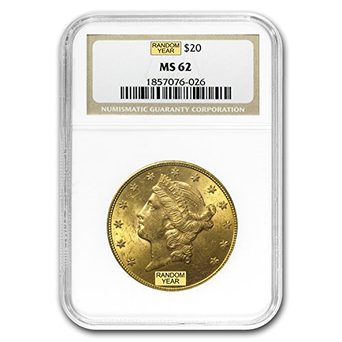 1850 – 1907 $20 Liberty Gold Double Eagle MS-62 NGC G$20 MS-62 NGC