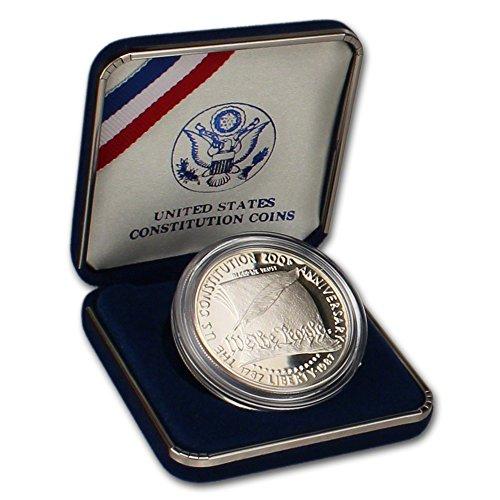 1987 S US Commemorative Proof Silver Dollar Constitution $1 OGP US Mint