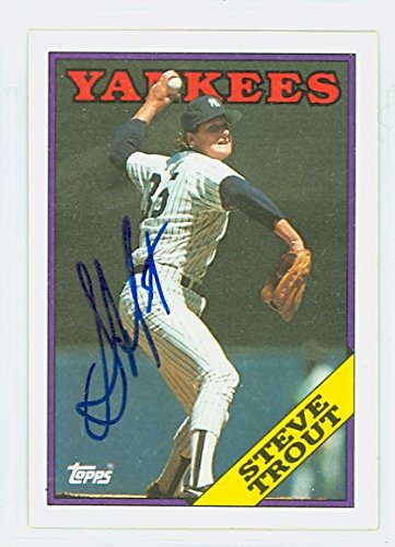 Steve Trout AUTOGRAPH 1988 Topps New York Yankees ()