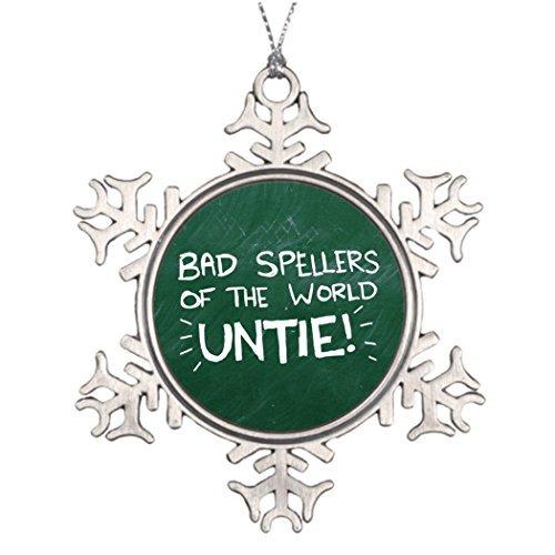 - Metal Ornaments Bad Spelling Tree Branch Decoration Tree Christmas