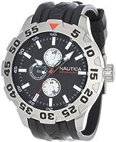 Nautica Men's N15564G BFD 100 Multifunction Black Dial Watch by Nautica