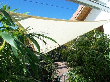 YACCU Sonnensegel WASSERDICHT Quadrat 4,5 x 4,5 m Natur-Creme