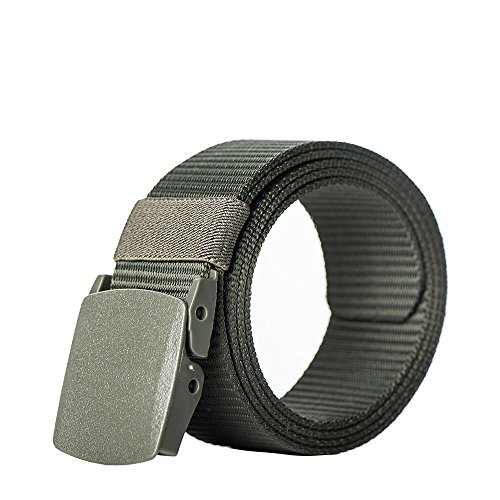 ailishabroy Nylon Military Tactical Belt Webbing Canvas Outdoor Web Belts for Men