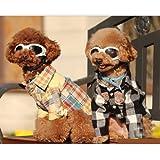 Funny Cute White Dog 3 Holes Design UV Goggles Sun Glasses, My Pet Supplies