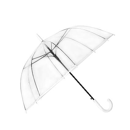 Paraguas Transparente/Paraguas Reforzado a Prueba de Viento/Engrosamiento del Estudiante/Hombres y