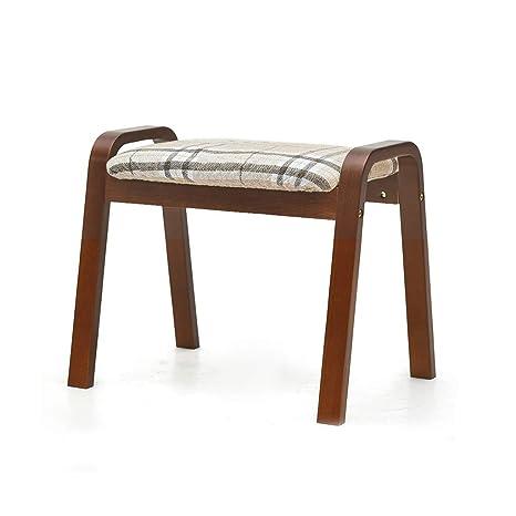 Amazon.com: JDJQ CY Footstool, Ottoman Fabric Upholstered ...