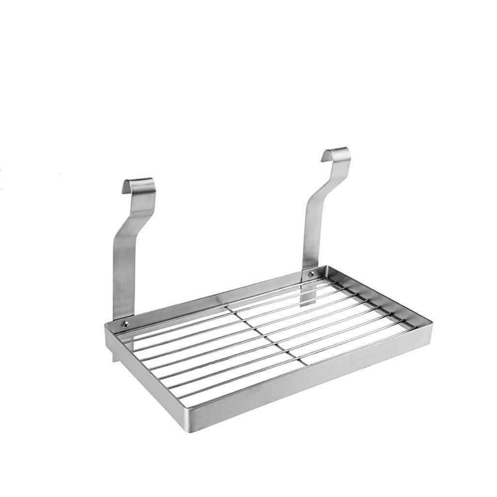 304 Stainless Steel Kitchen Rack Wall-Mounted Wall Free Punching Seasoning Storage Shelf Space Saving Supplies