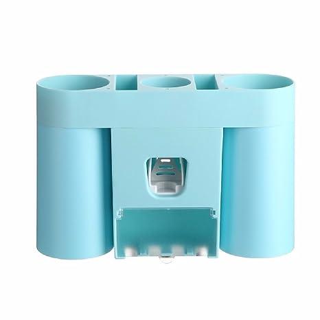 WAWZJ Porta cepillo de dientes, pasta de dientes apretando el dispositivo de succión tipo baño