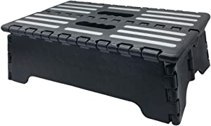 5 inch Lightweight Portable Folding Step - Great for Kitchen, Bathroom, Bedroom, Kids or Adults -Opens Easy with One Flip