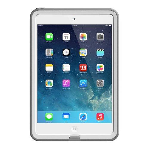 LifeProof FRE iPad Mini Waterproof Case - Retail Packaging - WHITE/GREY