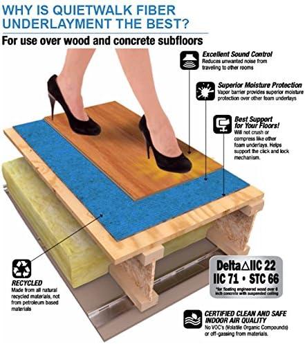 Quietwalk Underlayment For Laminate Flooring With Attached Vapor