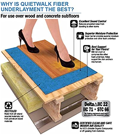 Quietwalk Underlayment For Laminate Flooring With Attached Vapor