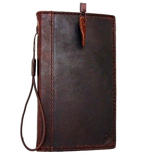 meet bbac3 0040a Genuine Leather Case Fit Samsung Galaxy Note 3 Book Wallet Handmade cover  slim brown thin daviscase