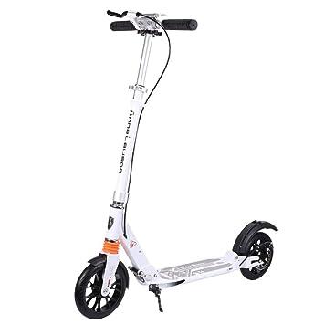 Mhwlai Scooter Adulto, Scooter de Aluminio de Dos Ruedas ...