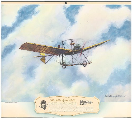 Anthony Fokker Spider monoplane 1912 by Hubbell 1940s - Fokker Monoplane