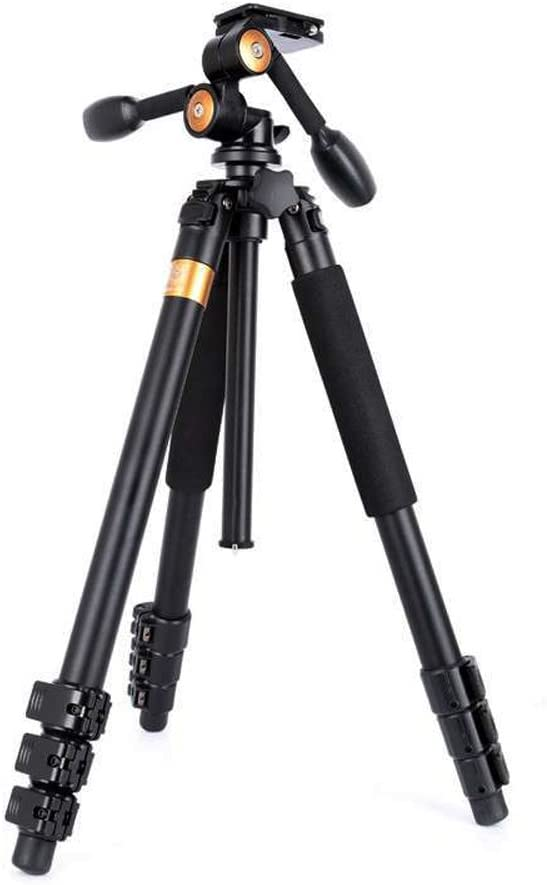 Panoramic Head Stable Heavy Camera Stand for Telephoto Lens Recorder Camcorder Max Load 33lb FM11 6ft Professional DSLR Video Camera Tripod