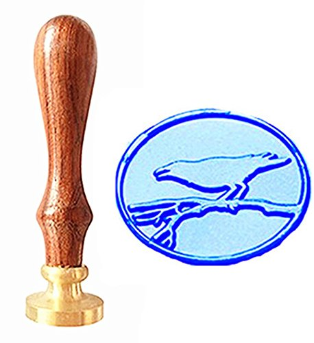 MNYR Vintage Bird On Branch Tree Nature Art Wax Seal Stamp Rosewood Handle Decorative Wedding Invitations Gift Cards Paper Stationary Envelope Custom Logo Picture Wax Seal Sealing Stamp Set