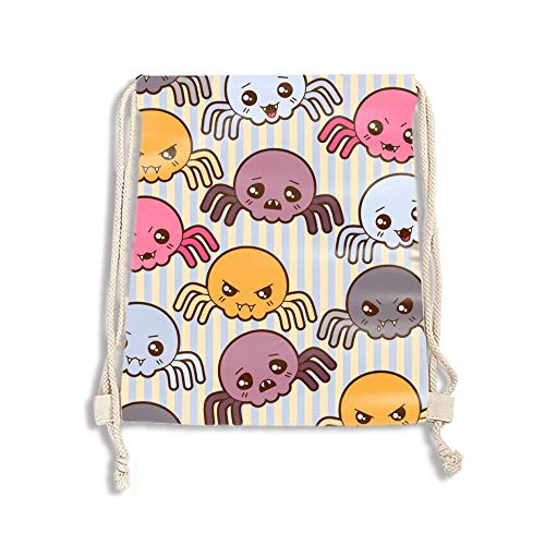 Packable Sport Gym Drawstring Sackpack Backpack Bag for Men,Women,Kids - Halloween -