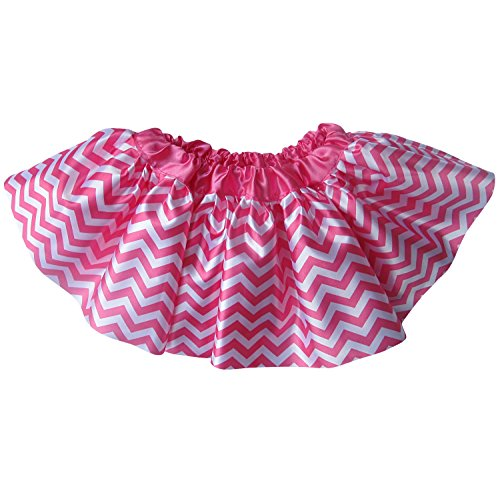 Ballerina Girls Dance Dress-Up Princess Fairy Costume Dance Recital Satin Tutu (Chevron Hot Pink) (Recital Dance Costumes Girls)